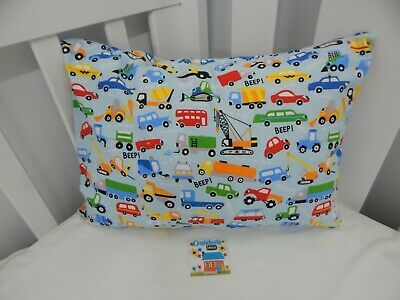Pillowcase Flannelette Cot Toddler Size On The Move 100% Cotton Snug & Warm