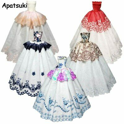 Fashion Doll Clothes For Barbie Doll Dress Party Gown Wedding Dresses Outfits1/6