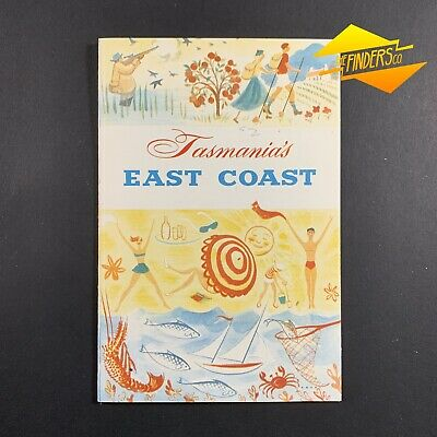"VINTAGE c.1940's ""TASMANIA'S EAST COAST"" ROAD & RAILWAYS TOURISM BROCHURE FLYER"