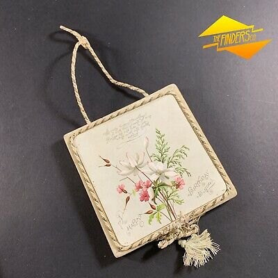 VINTAGE c.1930's INTERESTINGLY CRAFTED BIRTHDAY CARD HANGER DECORATION ORNAMENT