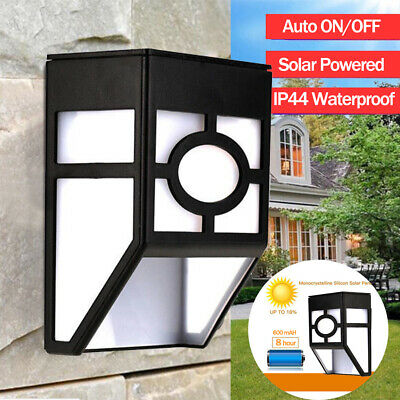 5Pcs Waterproof LED Solar Powered Light Auto ON/OFF Wall Light Outdoor Yard Lamp