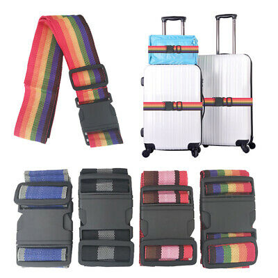 Add A Bag Strap Travel Luggage Suitcase Adjustable Belt Carry On Bungee Strap Y6