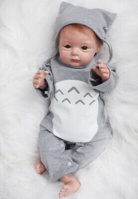 22inch Reborn Baby Dolls Cute Lovely Face Newborn Toddler Realistic Kids Gift