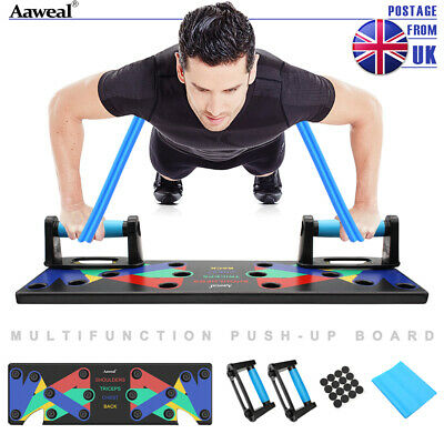 9in1 Push-Up Board Stands Fitness Workout System Gym Muscle Training Exercise UK