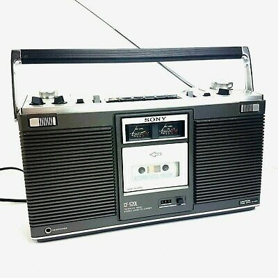 Vintage SONY CF-520L Japan 1978 FM MW LW 3 BAND Stereo Cassette Recorder Boombox