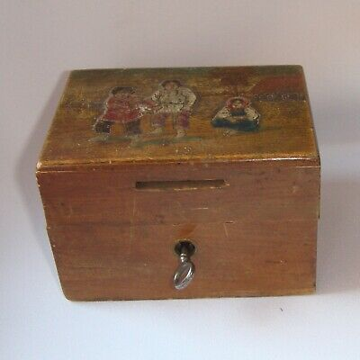 Antique Imperial Russian wooden box casket Abramtsevo 19 c. Carved Hand Painted