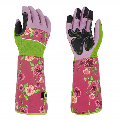 Leather Gardening Gloves Heavy Duty Long Gauntlet Rose Pruning Gloves Thorn Work