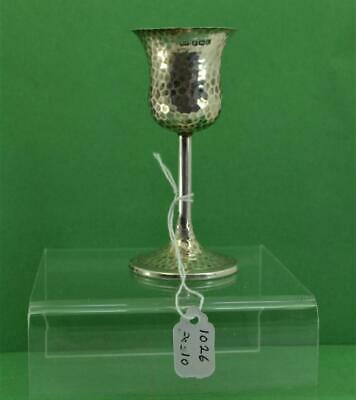 Antique Sterling silver Art & Craft hammered Kiddush Cup W & H Sheffield 1926