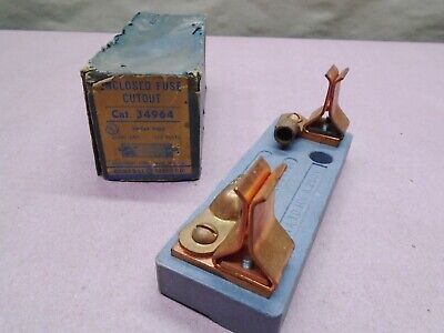 NEW Vintage Steampunk General Electric GE 34964 Enclosed Fuse Holder 250V