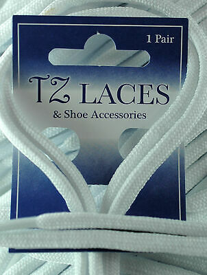 Cordon Rond Blanc 5mm Lacets Chaussures Bottes Neuf