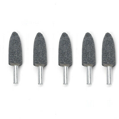 5 x 16mm Bullet Rotary Mounted Grinding Stone Wheel 6mm Shank for Drill Grinder