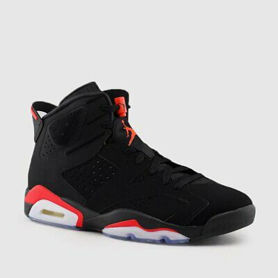 Nike Air Jordan Retro 6 VI BLACK INFRARED OG 2019 Men GS 384664-060 Size 4y-15