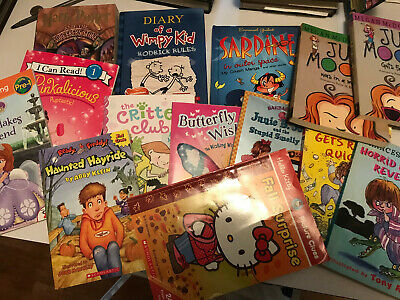 15 Book Childrens Lot, Harry Potter, Judy Moody, Diary of a Wimpy Kid, Sardine,