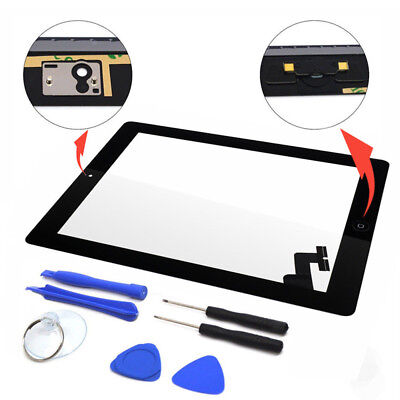 New Touch Screen Black Glass Digitizer Replacement for iPad 2 + Tools BlackPLCA