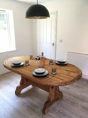 Large Oak Farmhouse Dining Table, Rustic, Vintage Style