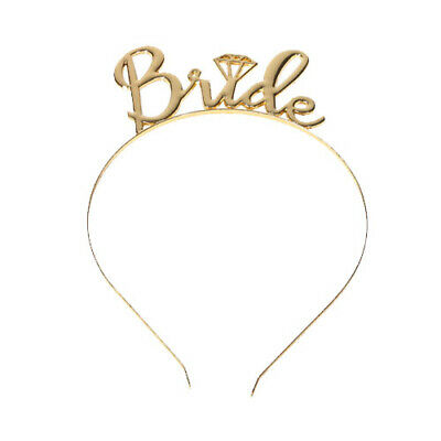 Bride To Be Gold Tiara Crown Hen Party Night Do Team Tribe Accessory Fancy Dress
