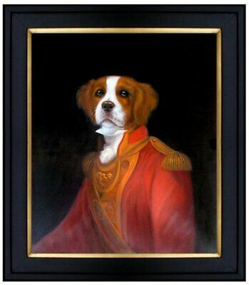 Framed, General Dog Portrait, Quality Hand Painted Oil Painting, 20x24in