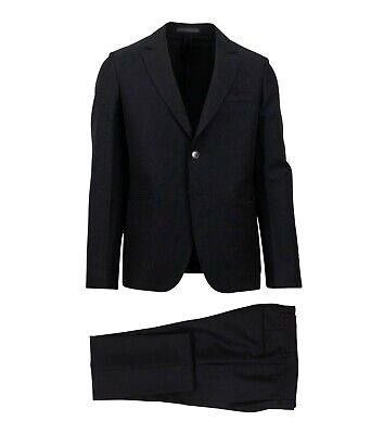 NWT VALENTINO Navy Blue 2 Button Wool Blend Suit Size 48/38 $5355