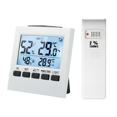 LCD Digital Wireless Indoor/Outdoor Thermometer Hygrometer ℃/℉ Q0S7