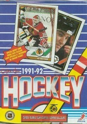 1991-92 O-Pee-Chee Factory Sealed Hockey Box - 36 Packs per Box