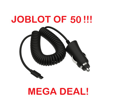JOBLOT 50 x Kit Micro USB In-Car Charger For Android Samsung Nokia Sony LG Moto
