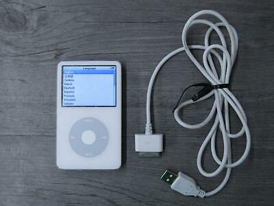 Apple iPod Classic 5th Generation 30GB MP3 Player A1136 White Tested