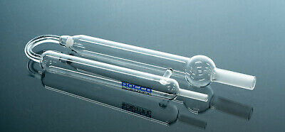 New Glass 25Ml Sparge Purge Tube W/ Glass Filter