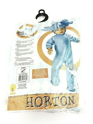 Infant 6-12 Months Horton Halloween Costume Cosplay Play Dr. Suess Elephant Blue