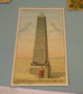 Pond's Extract Company Egyptian Obelisk Victorian Trade Card Antique Advertising