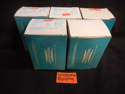 Leviton, Flush Receptacle, 5206, 3-Pole, 3-Wire, 50A, 125/250V, Lot Of 5