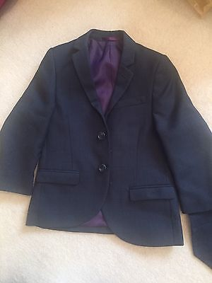 NEXT Boys Age 3 Navy Blue Blazer Waistcoat Plus Shirt Formal Wedding Party