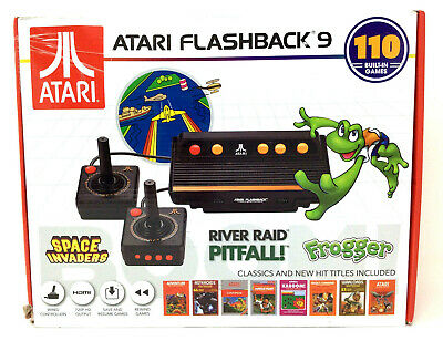 Atari Flashback 9 Classic Game Console 110 Games 2 Controllers Frogger Pitfall