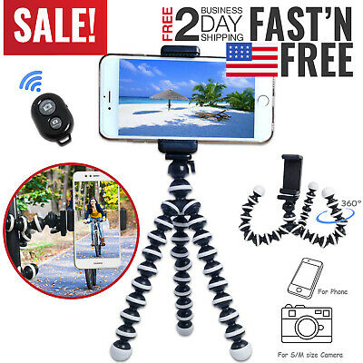 Octopus Tripod Cell Phone Flexible Portable Compact For iPhone GoPro Camera Mini
