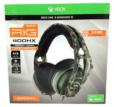 Plantronics RIG 400HX Multi-Player Stereo Gaming Headset XBOX ONE Forest Camo