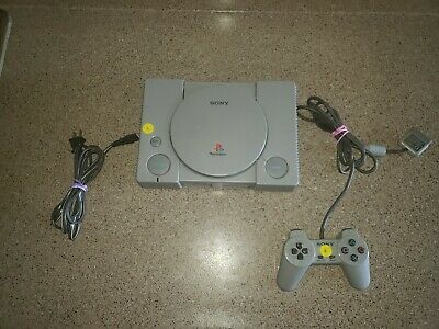 Sony Playstation PS1 Console System With 1 Controller Tested No Av cable