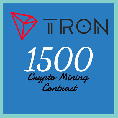 Tron 1500 TRX | MINING CONTRACT | Crypto Currency | Top 11 Coinmarketcap