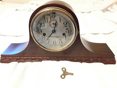 VINTAGE 1950'S INGRAHAM Cornell Eight Day Clock For Parts Or Repair