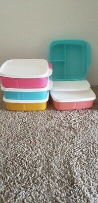 NEW Tupperware Lunch It Divided Containers - Set of 5 -
