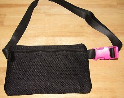 Macy's Belt Bag Black Pink NWT Waist Fanny Pack Zipper Travel Handbag Stylish