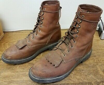 4be7beb55a378 Ariat Men's Brown Leather Western Work Boots Cascade 8
