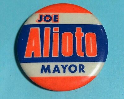 Joe ALIOTO for Mayor - 70's San Francisco Campaign Pin