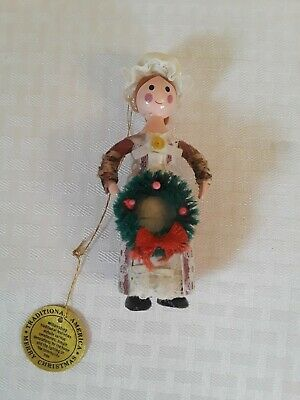 1980 Vintage Sears Christmas Around The World Traditional America wood Ornament