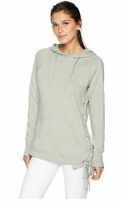 Calvin Klein Performance Lace-up Sides Hoodie Silver Jade Size L NEW with tag