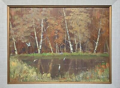 Edmond Woods Oil Painting, California Impressionist, Post-Impressionism Art