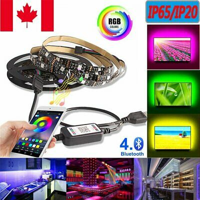 RGB 5050 USB LED Strip Lights IP65/IP20 Color Changing TV Bar Background Music