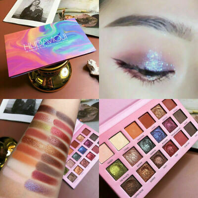 Colorful NEW HUDA EYESHADOW PALETTE Beauty Eye Shadow Palette 18 Shades Colors P