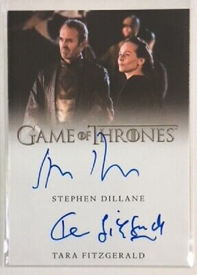 Dillane-Fitzgerald Dual Autograph from Game of Thrones Inflexions Very Limited