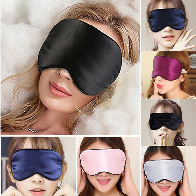 3D Soft Pure Silk Filled Sleep Eye Mask Sleeping Eye blindfold Eyeshades Travel