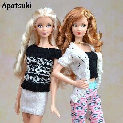 Multi Styles For Knitted Handmade Sweater Tops Coat Dress For Barbie Doll Blythe
