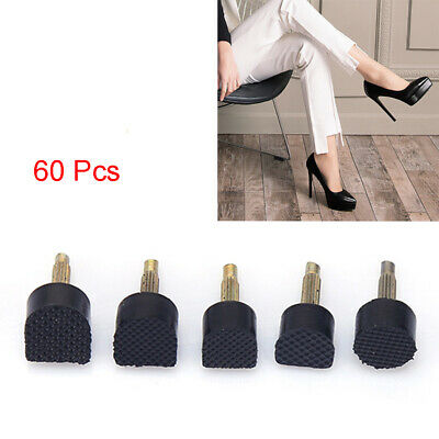 AU 60pcs High Heel Tips Shoes Stoppers-Replacement Taps Women Dowel Lifts Hard #